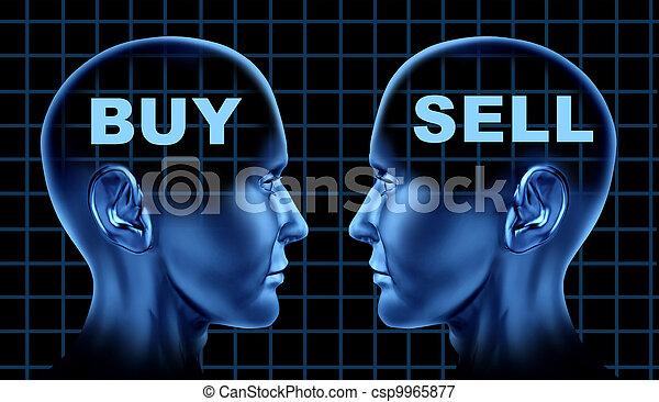 venda, Símbolo, compra, Negociar - csp9965877