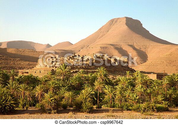 Berber village in the Atlas Mountains, Morocco - csp9967642