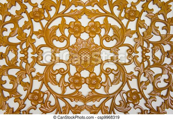 filigree wood carvings - csp9968319