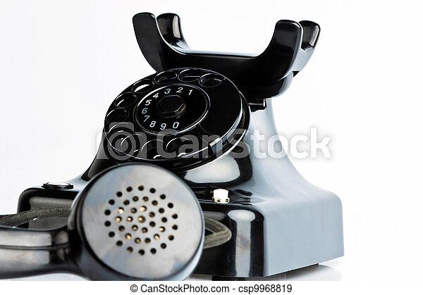 antique, old retro phone. - csp9968819