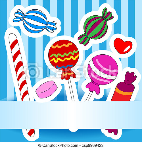Candy wish or invitation card - csp9969423