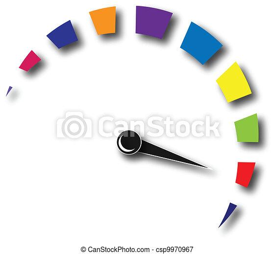 Speed odometer colorful logo  - csp9970967
