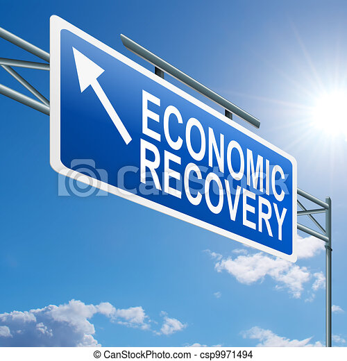 Economic recovery sign. - csp9971494