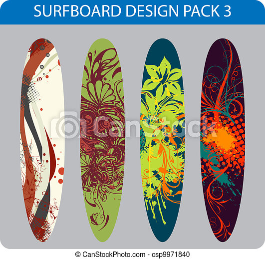 Surfboard design pack - csp9971840