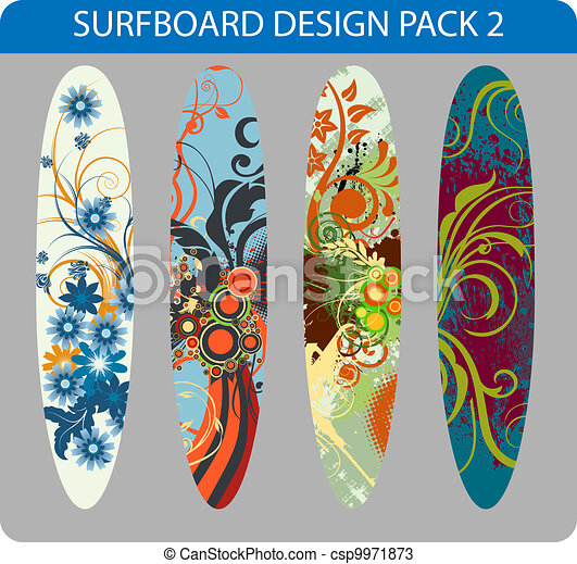 Surfboard design pack - csp9971873