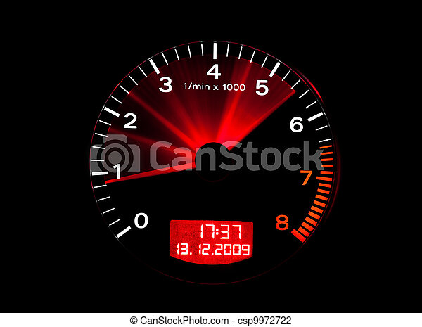 Close up of a tachometer - csp9972722
