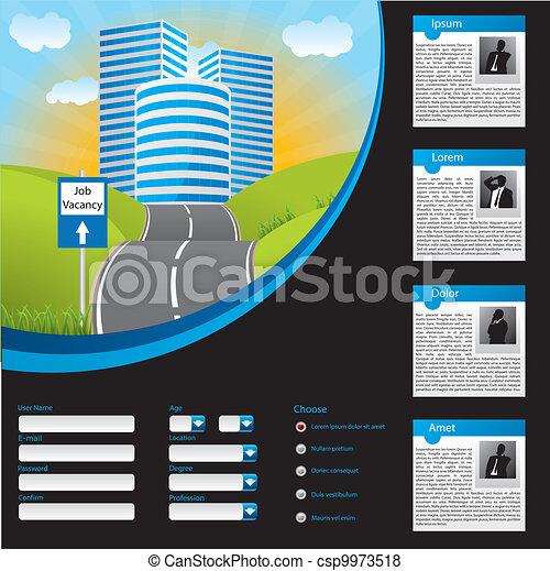Job searching website template design - csp9973518