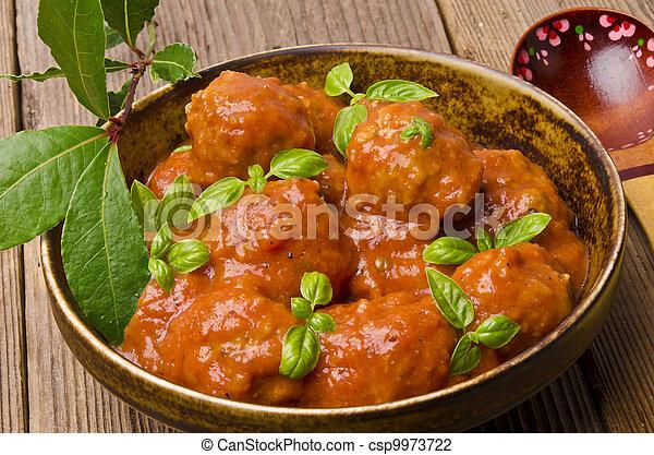 meatballs in tomato sauce - csp9973722