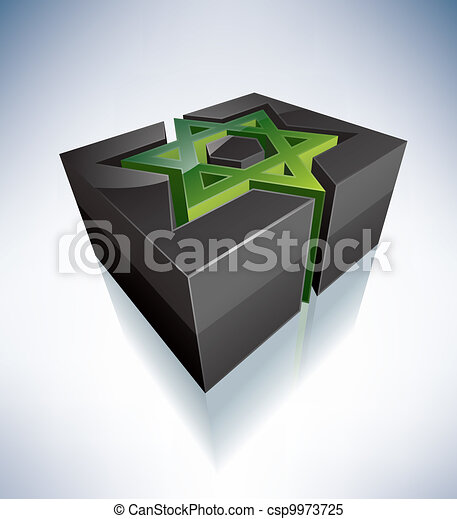 3D Religion: Star of David - csp9973725