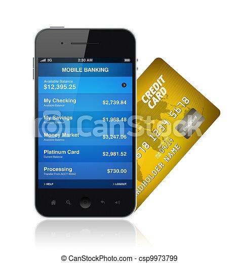 Mobile Banking Concept - csp9973799