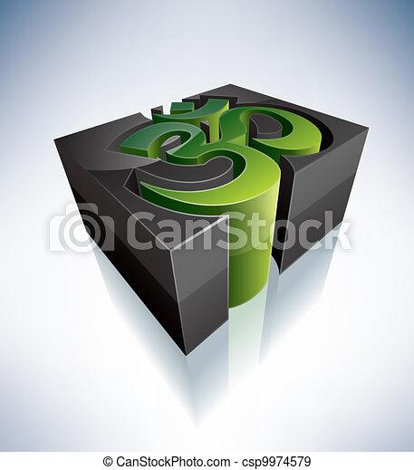 3D Religion: Hinduism - csp9974579