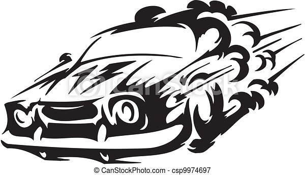 Race car - vector illustration - csp9974697