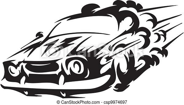 Race car - vector illustration - csp9974697
