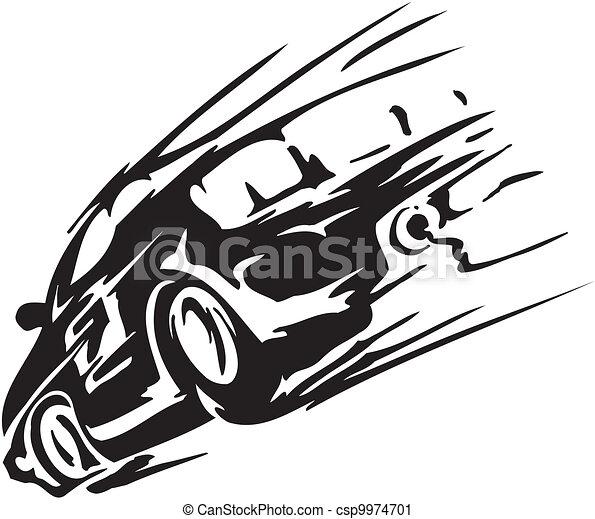 Race car - vector illustration - csp9974701