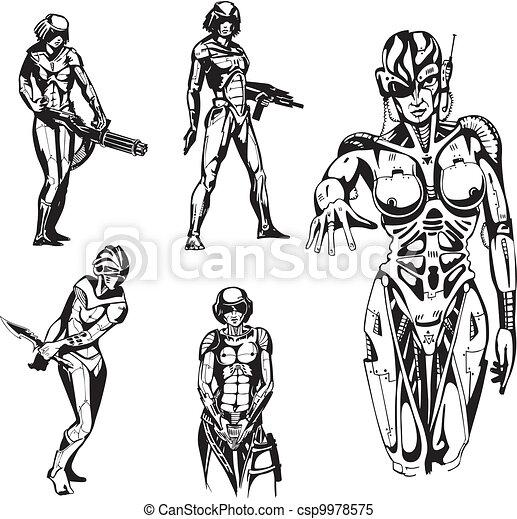 Amazon Cyborgs - csp9978575