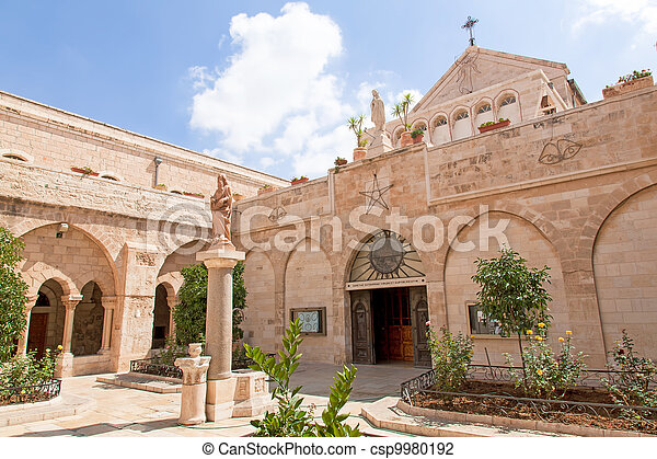 Palestin. The city of Bethlehem. The Church of the Nativity - csp9980192