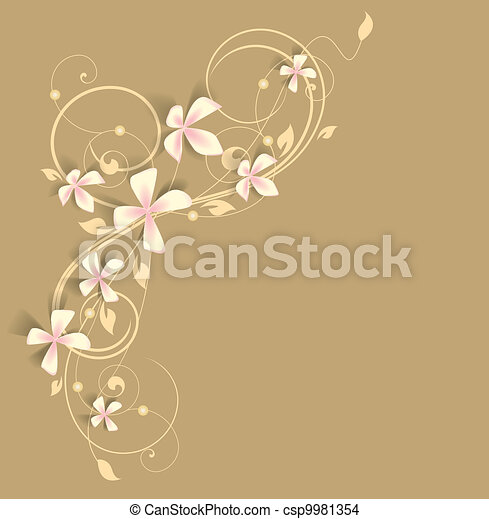 pink flowers - csp9981354
