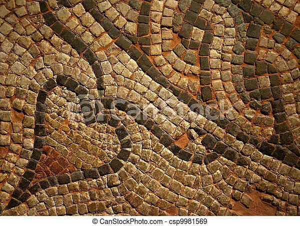 Roman Mosiac Detail - csp9981569