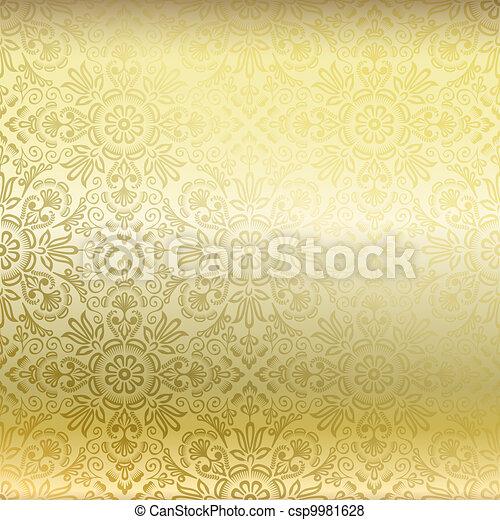 Stock de ilustraciones de seamless dorado damasco papel for Papel pintado dorado