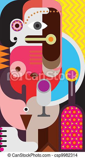 Abstract portrait of a woman - csp9982314