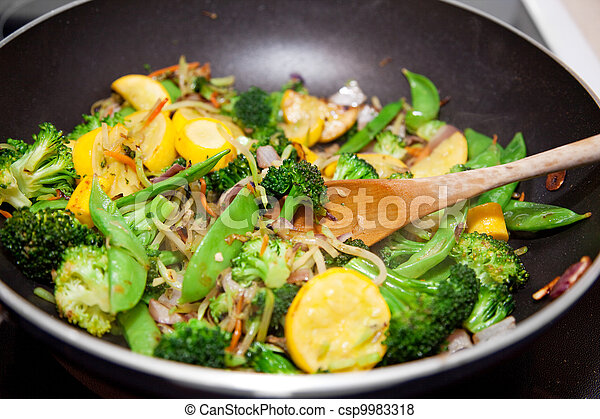 Healthy Vegetable Stir Fry - csp9983318