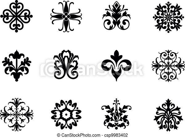 Flower Pattern Drawing Flower Patterns Csp9983402