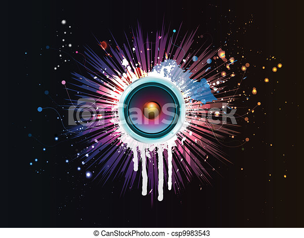 abstract speaker background - csp9983543