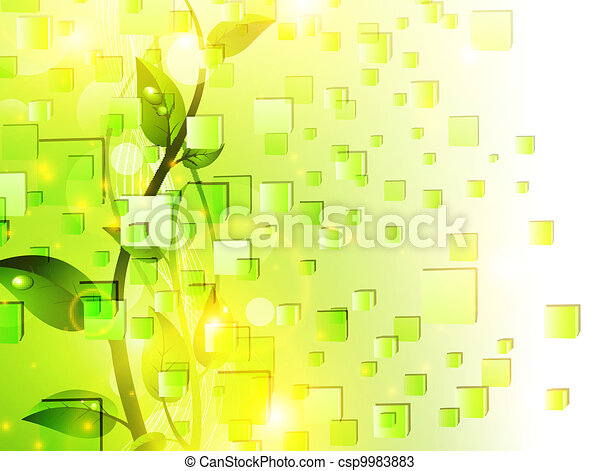 Vitality green nature background - csp9983883