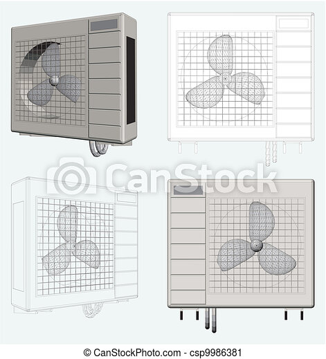Outdoor Unit of Air Conditioner - csp9986381