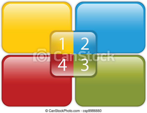 Colorful Business Diagram Glossy - csp9986660