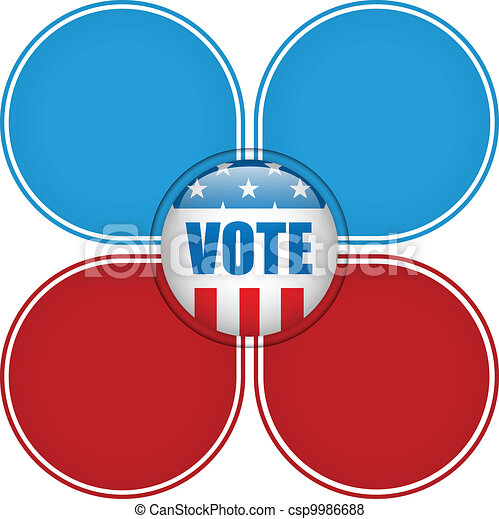 United States Election Vote Button. - csp9986688