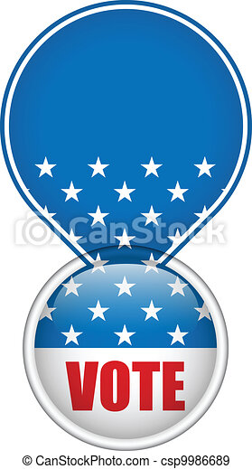 United States Election Vote Button. - csp9986689