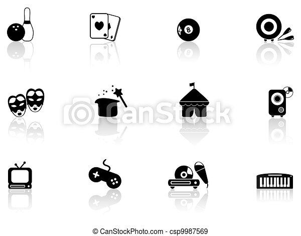 Entertainment icons - csp9987569