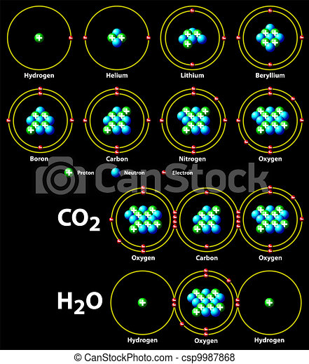 chemical covalent bonds black - csp9987868
