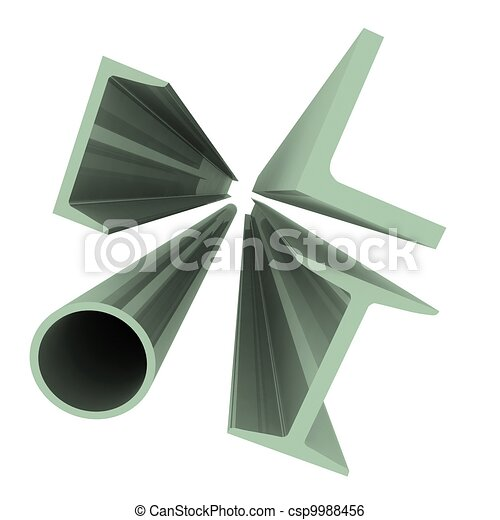 High technology background - aluminum profiles - csp9988456