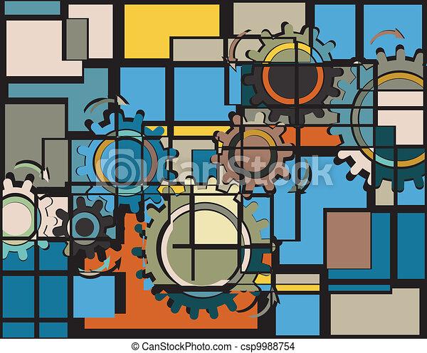 Cogs mosaic - csp9988754
