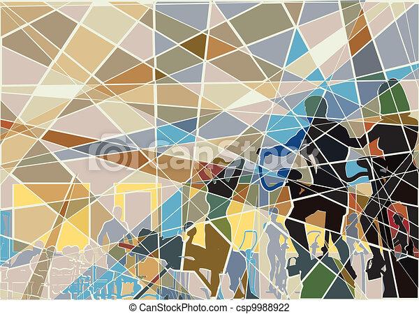 Gymnasium mosaic - csp9988922
