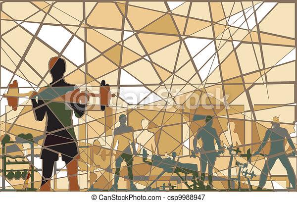 Mosaic gym - csp9988947