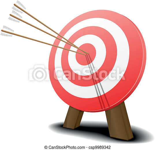 target with arrows - csp9989342