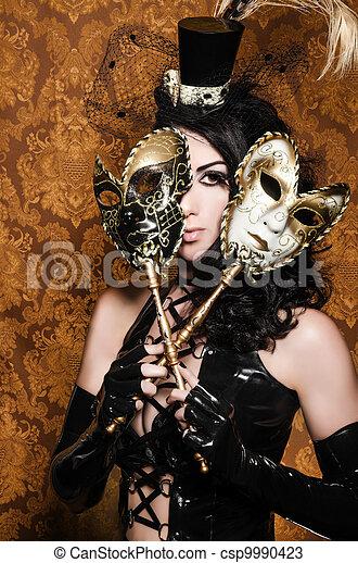 vixen, mascarade, -, masques, vénitien, mystérieux, sexy - csp9990423
