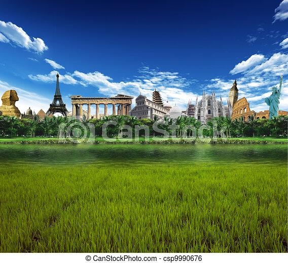 World landmarks - csp9990676