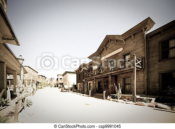 Far west town - csp9991045