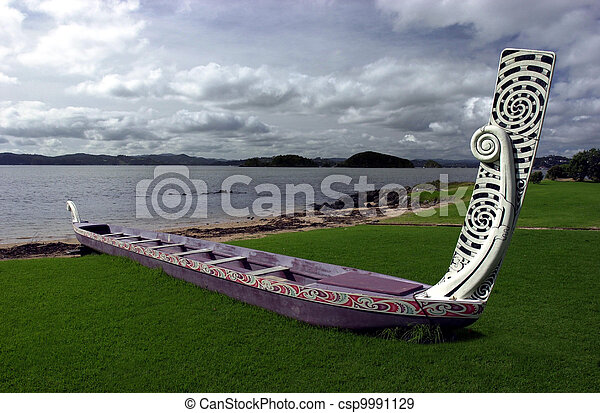 Stock Photographs of Traditional New Zealand Maori Waka - A traditional New... csp9991129 ...