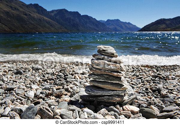 Lake Wakatipu, Queenstown, New Zealand - csp9991411