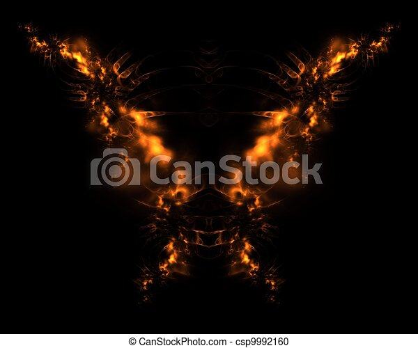 Fire Demon Abstract Fractal Design - csp9992160