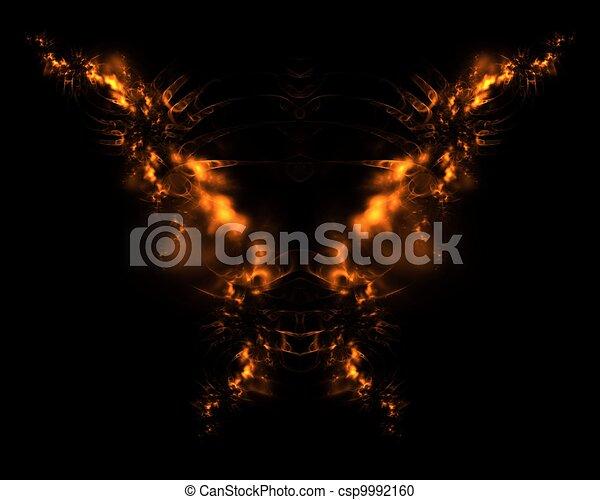 Fire Demon Abstract Fractal Design - csp9992160