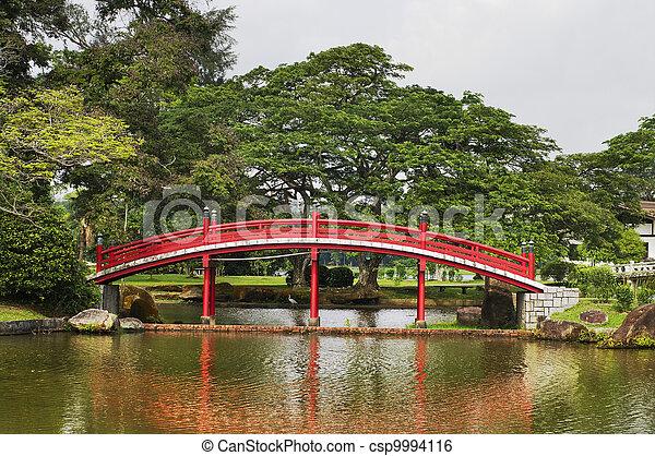 Japanese garden  in Singapore - csp9994116
