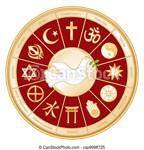 World Religions, Dove of Peace - csp9998725
