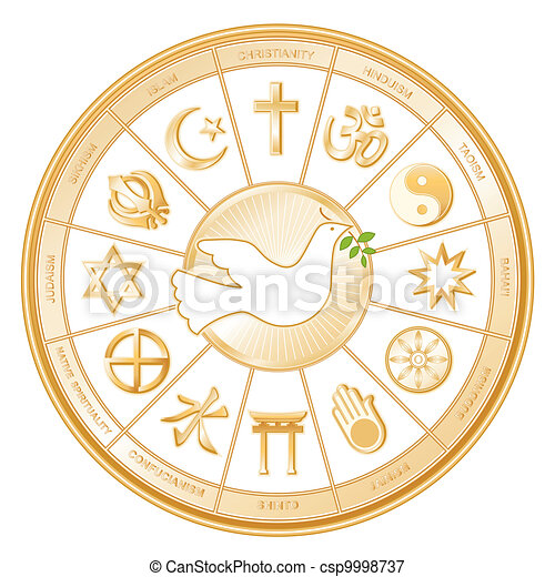 World Religions, Dove of Peace - csp9998737