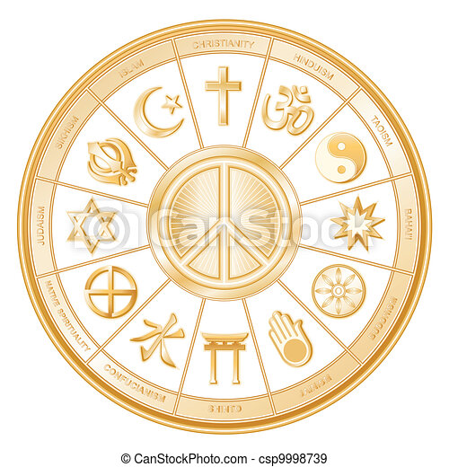 Peace Symbol, World Religions - csp9998739